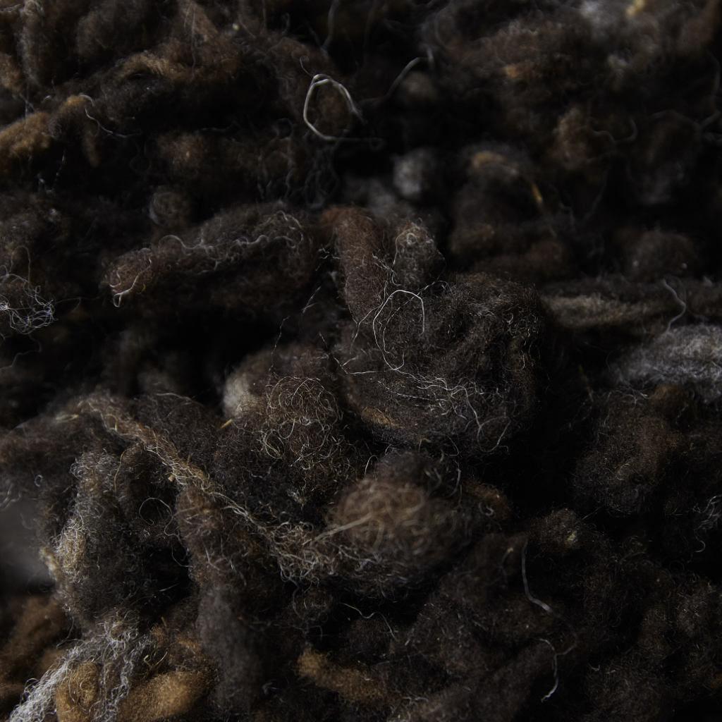 Laine marron fibre l Peignage Dumortier