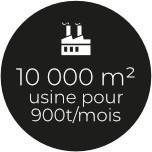 10000 m2 usine